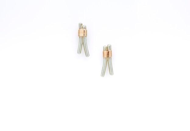 Bound Light Wishbone Earrings