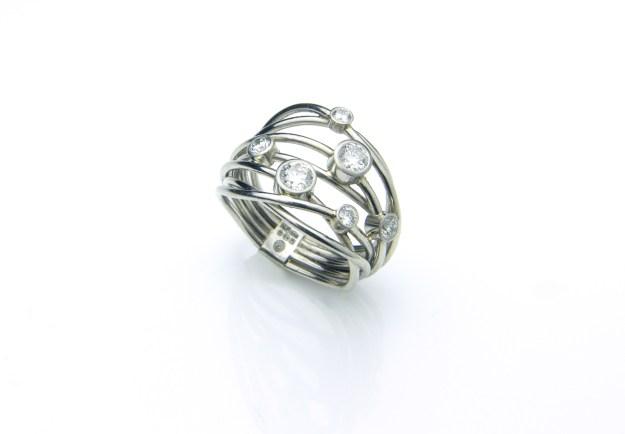 Flow Platinum & Diamond Ring