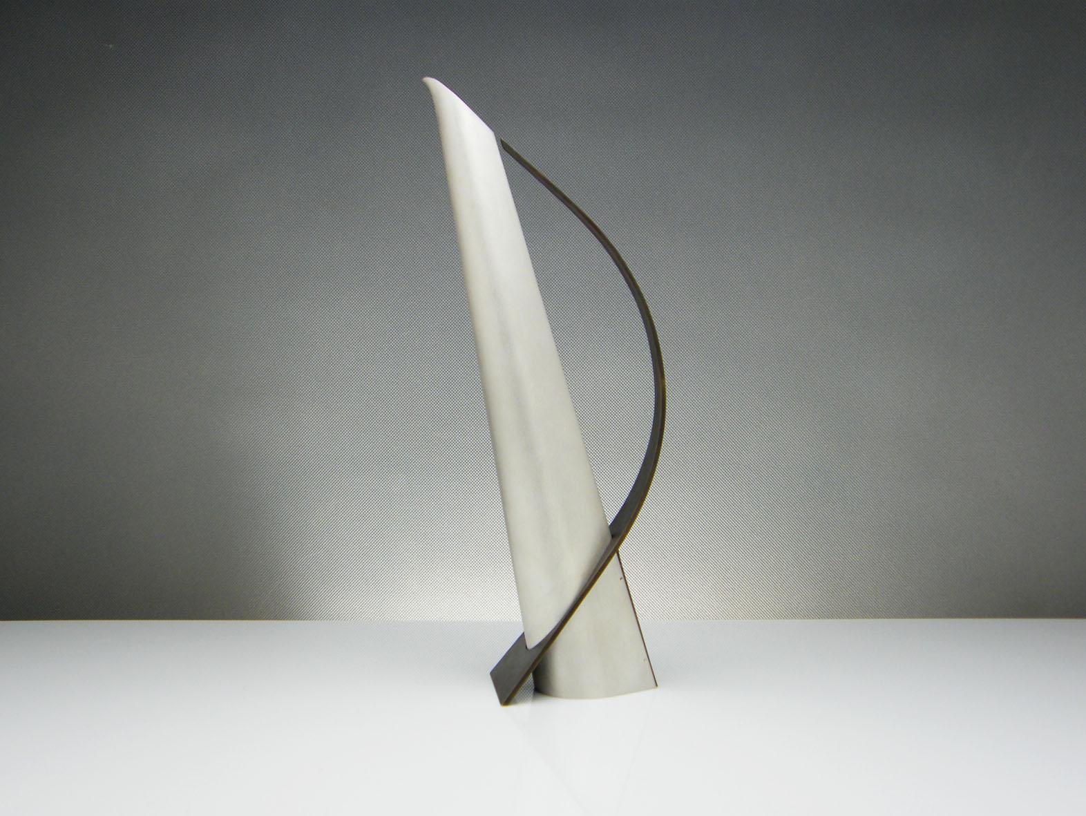 Incline Jug by Martyn Pugh Modern Silver and Brass Wine Jug