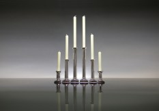 Silver Fluted Candlesticks