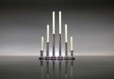 Silver Fluted Candlesticks