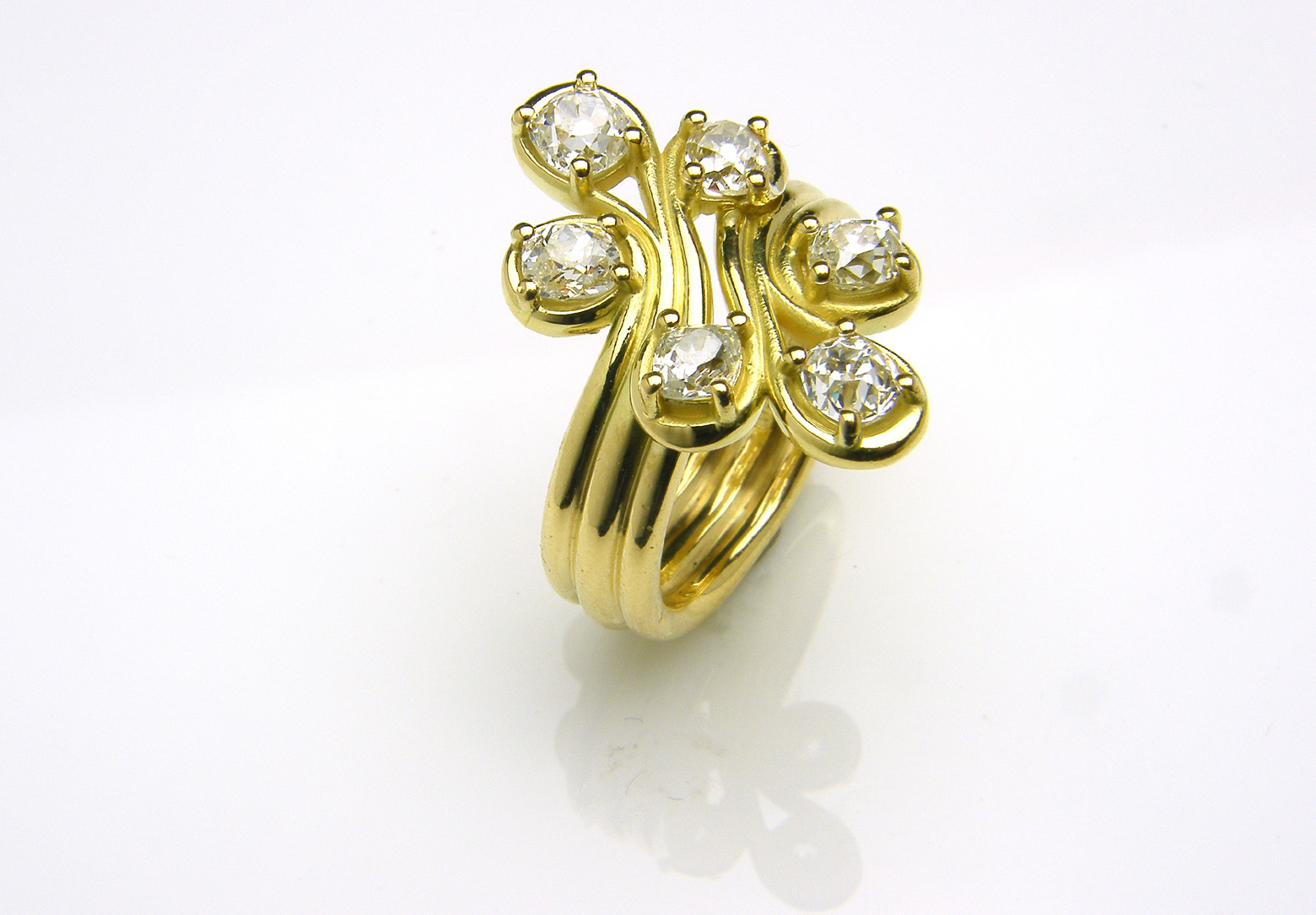 Old Cut Diamond & 18ct Yellow Gold Ring