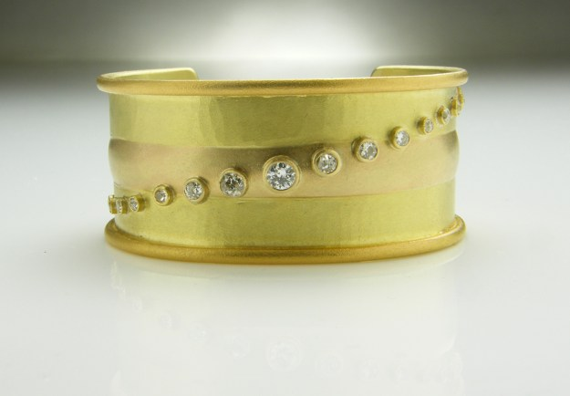 Yellow Gold & Diamond Cuff