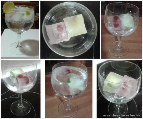 Copa con hielos con frutas