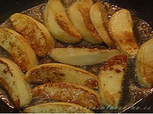 Guarnición de manzanas