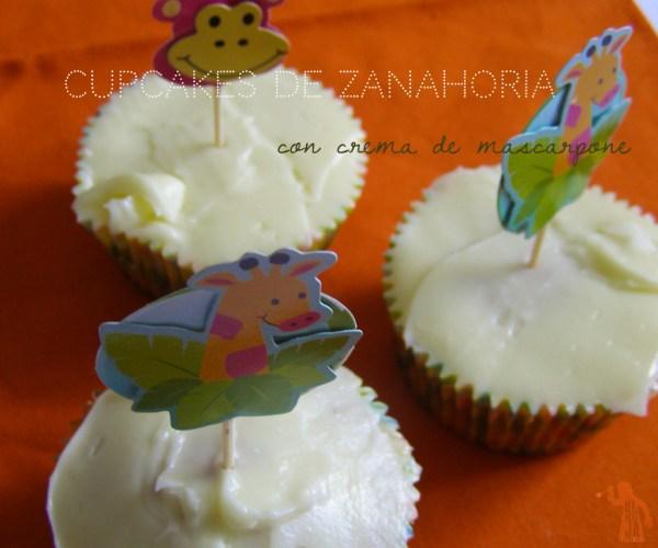 Cupcakes de zanahoria con crema de queso mascarpone gr
