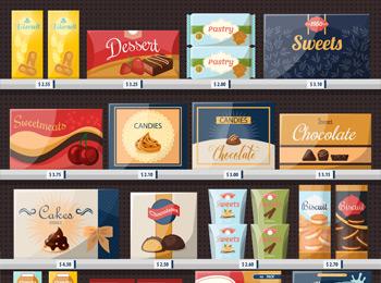 チョコレートのパッケージデザイン