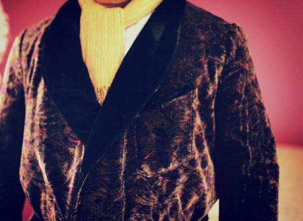 Black Maroon Velvet Smoking Jacket Gomez Addams Family 238 Folkwear