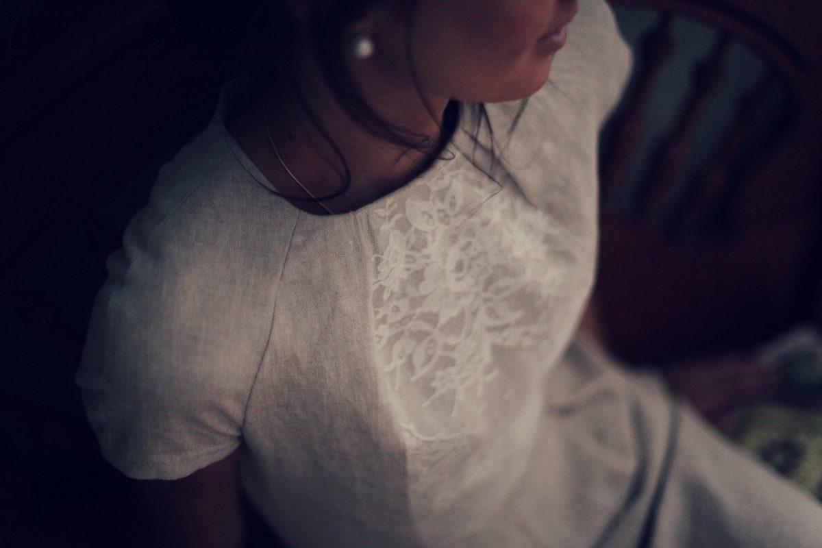 linen white bridal lace shift dress marusya wedding