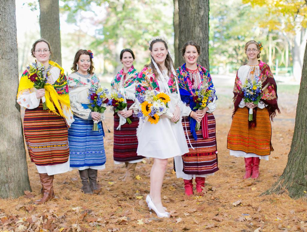Ukrainian Bride Wedding Embroidery Sewing Silk Dress Marusya Marusya