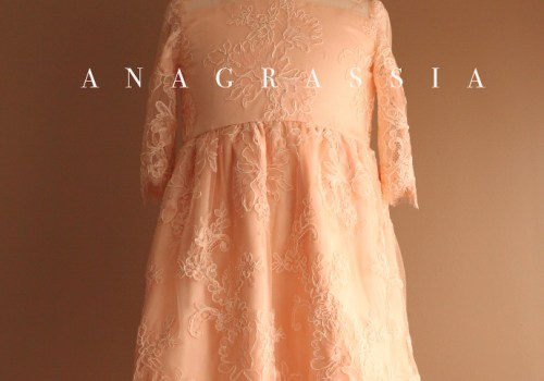 easter dress blush pink silk lace