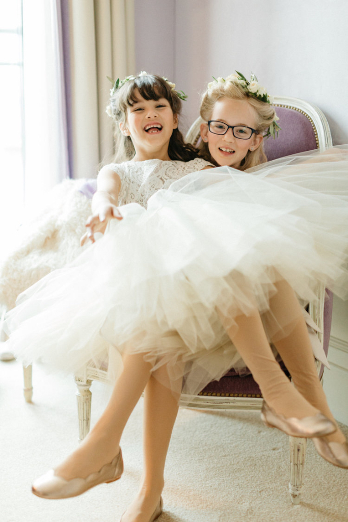 Flower Girl Dress Champagne Ivory Lace