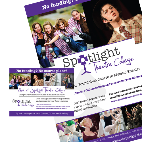 Spotlight Theatre College advertising