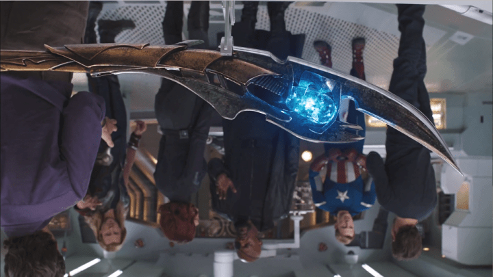 Upside-down shot in The Avengers (2012)