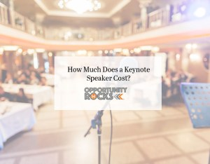 keynote speaker microphone in front of a waiting crowd