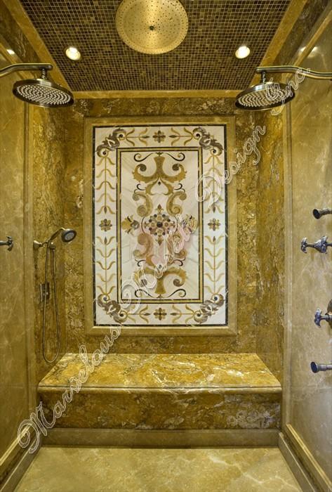 Bathroom Marble Design Marble Medallion In Bathroom