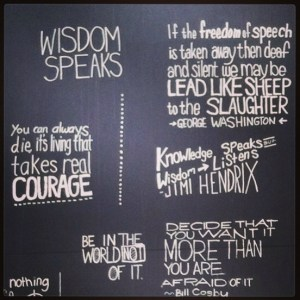 wisdom speaks wall inspire mdavidson