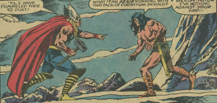 Image result for conan vs. thor