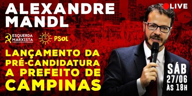 Live: Lançamento da pré-candidatura do PSOL à prefeitura de Campinas