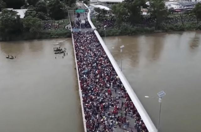 Migrant caravan Image fair use