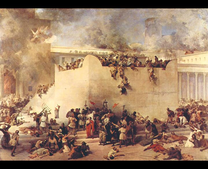 The siege of Jerusalem, 70 CE