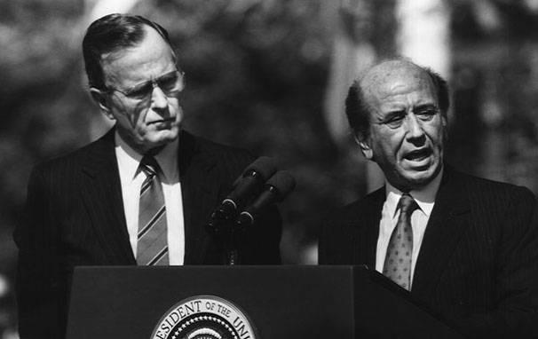 Carlos Andrés Pérez GeorgeH.W.Bush Image The White House