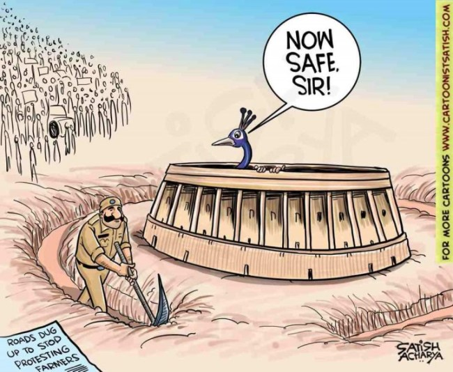 Modi repression image satish acharya
