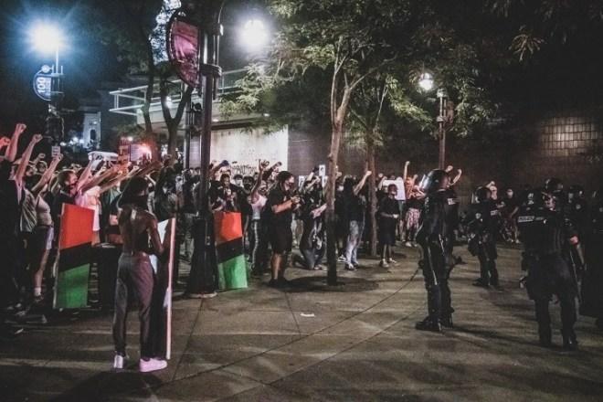 Blake protests Image public domain