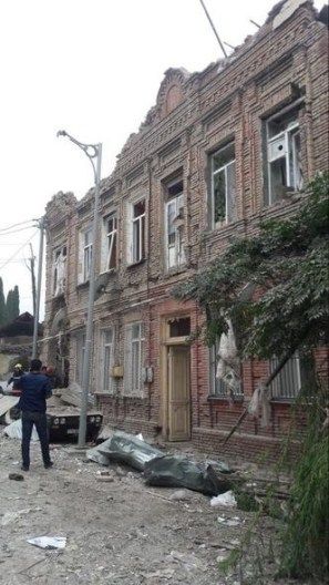 Civilian home hit by rocket
