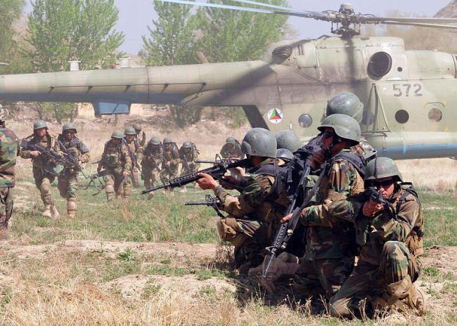 Afghan troops Image public domain