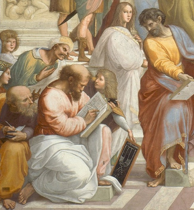 Cropped image of Pythagoras from Raphaels School of Athens