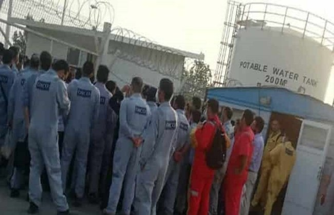 Iran workers striking Image fair use
