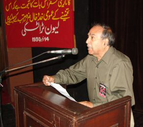 Javed Shaheen at the 2005 congress of The Struggle.