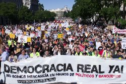 "May 15, Madrid, ""Real Democracy Now!"". Photo: arribalasqueluchan"