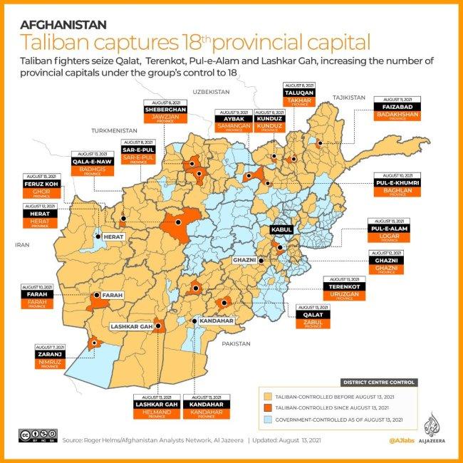 Fallen provincial capitals Image Al Jazeera