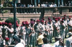 Rally of the Neo-Nazi AWB in Pretoria in 1990.  Photo by Anton  Raath.