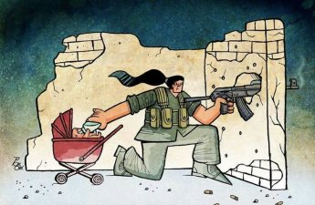 kobani women cartoon