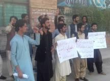 کوئٹہ: کامریڈ ظریف رند کے گھر پر قاتلانہ حملے کیخلاف طالبعلم راہنماؤں کااحتجاج