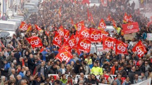 CGT in paris strike