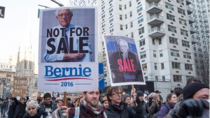 New Yorkers Feel The Bern During March Through Lower Manhattan