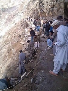 locals clearing KKH