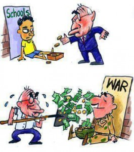 no money for education cartoon
