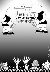 pakistani politicians and people cartoon