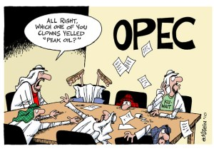 OPEC after Oil Market Collapse Cartoon