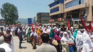 Health Workers Protest in Rawalakot 01
