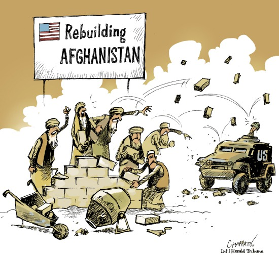 Rebuilding Afghanistan Cartoon