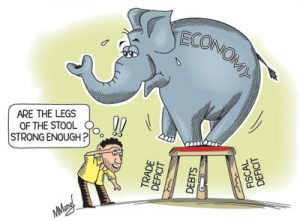 Indian Fiscal Deficit Cartoon
