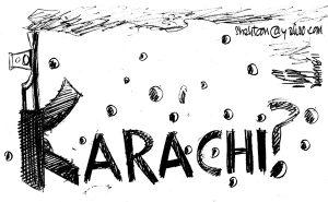 Karachi Target Killing cartoon