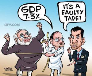 Modi Rajan GDP Dispute