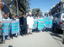 کوئٹہ: فارماسسٹس ایسوسی ایشن کا اپنے بنیادی حقوق اور مطالبات کے حق میں احتجاجی مظاہرہ